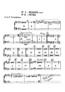 Three Nocturnes, L.91: Trombones parts by Claude Debussy