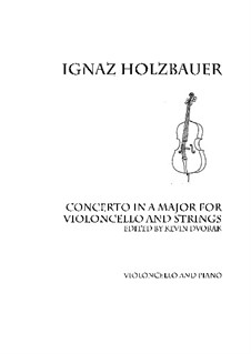 Concerto in A: For violoncello and piano by Ignaz Holzbauer