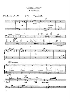 Three Nocturnes, L.91: Percussions parts by Claude Debussy