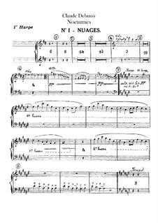 Three Nocturnes, L.91: Harps parts by Claude Debussy