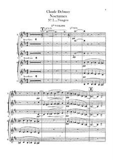Three Nocturnes, L.91: Violins II parts by Claude Debussy