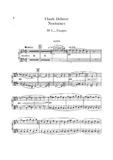 Three Nocturnes, L.91: Violas parts by Claude Debussy