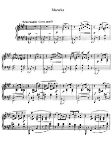 Mazurka in F Sharp Minor, L.67: For piano by Claude Debussy