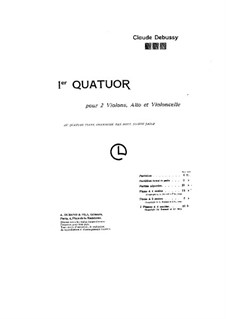 String Quartet No.1 in G Minor, L.85 Op.10: Version for piano by Claude Debussy
