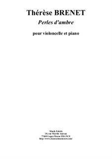 Perles d'Ambres: For violoncello and piano by Thérèse Brenet