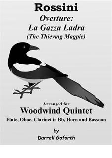 La gazza ladra (The Thieving Magpie): Overture, for wind quintet by Gioacchino Rossini