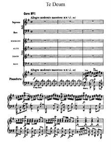 Te Deum, B.176 Op.103: Te Deum by Antonín Dvořák