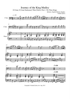 Journey of the King Medley: Score for two performers (in C) by folklore, John H. Hopkins Jr.
