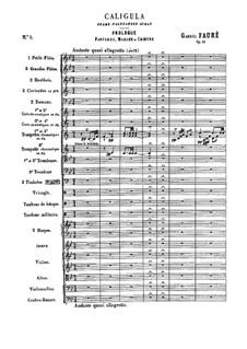 Caligula, Op.52: Full score by Gabriel Fauré