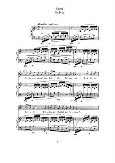 Three Songs, Op.6: No.3 Sylvie by Gabriel Fauré