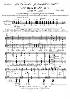 Lux In Tenebris: La Commedia di Dante: Cantica I: Canto V - After 'The Kiss' by Ennio Paola
