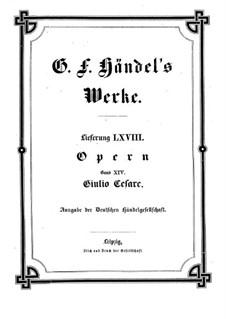 Julius Caesar in Egypt, HWV 17: Full score by Georg Friedrich Händel