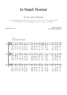 In Natali Domini: Christmas motet: SAB-SSA by Joan Yakkey