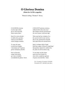 O Gloriosa Domina: O Gloriosa Domina by Thomas F. Savoy