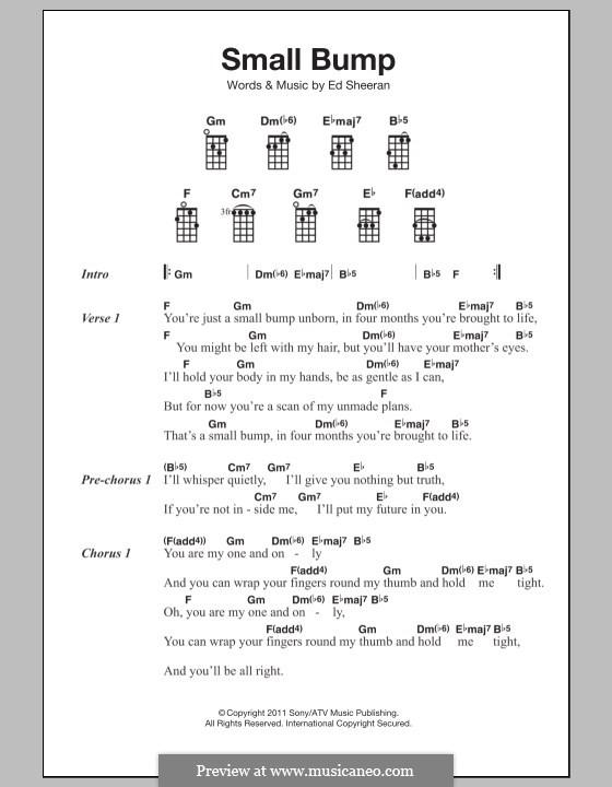 Small Bump: For ukulele by Ed Sheeran
