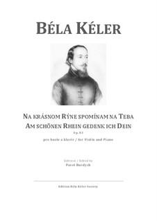 Am schönen Rhein gedenk ich Dein, Walzer, Op.83: Am schönen Rhein gedenk ich Dein, Walzer by Béla Kéler