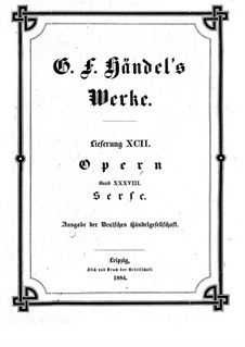 Complete Opera: Full score by Georg Friedrich Händel