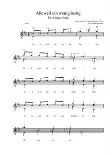 Allweil ein wenig lustig: For guitar by Valentin Rathgeber