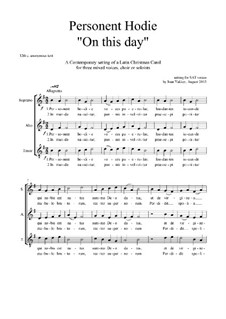 Personent Hodie: Christmas motet: SAT by Joan Yakkey