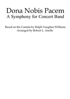 Dona Nobis Pacem: A Symphony for Concert Band: Conductor's score by Ralph Vaughan Williams