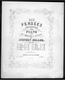 Pensées fugitives, Op.30: Romance, for piano by Stephen Heller, Heinrich Wilhelm Ernst