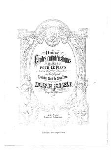Douze études caractéristiques, Op.2: Complete set by Adolf von Henselt