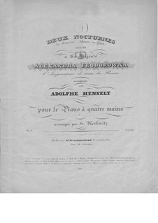 Nocturnes, Op.6: For piano four hands by Adolf von Henselt