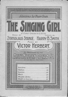 The Singing Girl: Waltzes, for piano by Victor Herbert