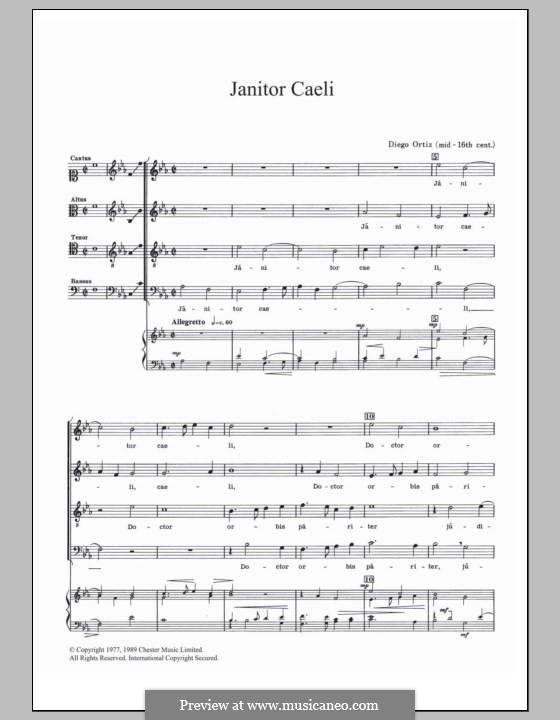 Janitor Caeli: For ukulele by Diego Ortiz