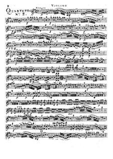 Piano Quartet No.2 in G Major: Violin part by Franz Anton Hoffmeister