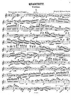 Piano Quartet in D Minor, Op.50: Violin part by Heinrich Hofmann