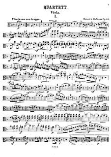 Piano Quartet in D Minor, Op.50: Viola part by Heinrich Hofmann