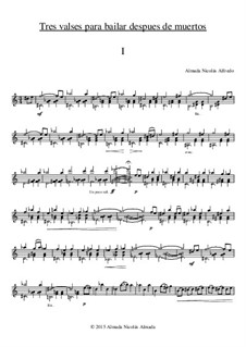 3 Waltzes for dancing after death: 3 Waltzes for dancing after death by Nicolas Alfredo Almada