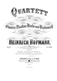 Piano Quartet in D Minor, Op.50: Full score by Heinrich Hofmann