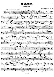 Piano Quartet in D Minor, Op.50: Cello part by Heinrich Hofmann