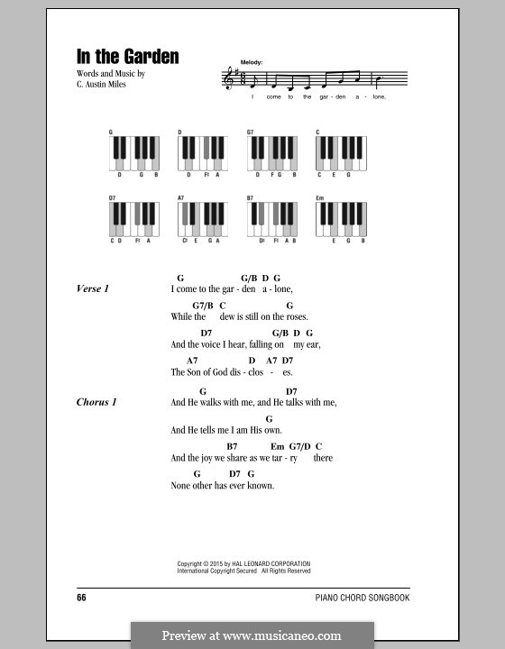 In The Garden By Ca Miles Sheet Music On Musicaneo