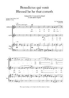 Benedictus qui venit - SA: Benedictus qui venit - SA by Giovanni da Palestrina