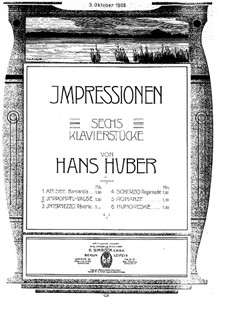 Six Pieces: No.2 Impromptu-Valse by Hans Huber
