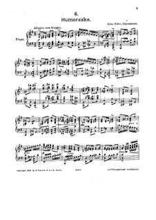 Six Pieces: No.6 Humoresque by Hans Huber