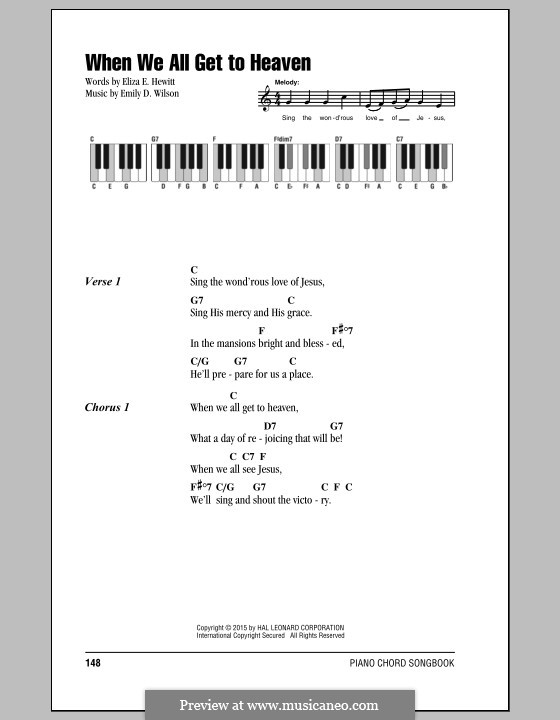 When We All Get To Heaven: Lyrics and chords by Emily D. Wilson