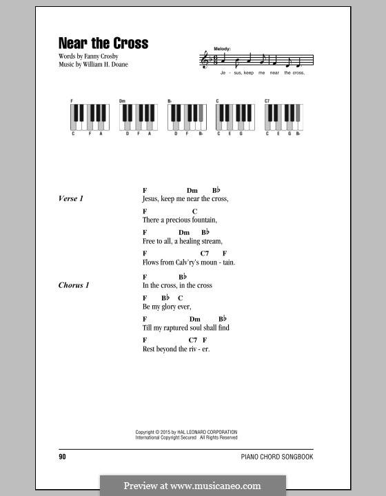 Near the Cross: Lyrics and chords by William Howard Doane