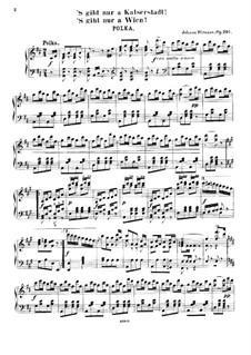 'S gibt nur a Kaiserstadt, 's gibt nur a Wien, Op.291: 'S gibt nur a Kaiserstadt, 's gibt nur a Wien by Johann Strauss (Sohn)