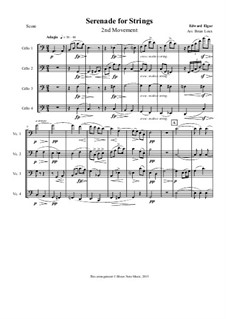 Serenade for String Orchestra, Op.20: Movement II. Arranged for cello quartet by Edward Elgar