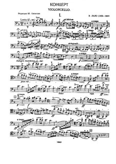 Cello Concerto in D Minor: Movement I – cello part by Édouard Lalo