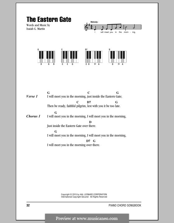The Eastern Gate: Lyrics and chords by Isaiah G. Martin
