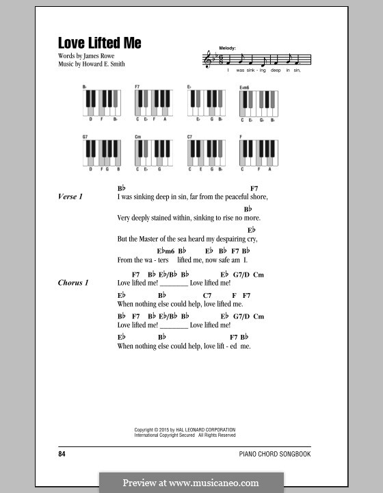 Love Lifted Me by H.E. Smith - sheet music on MusicaNeo