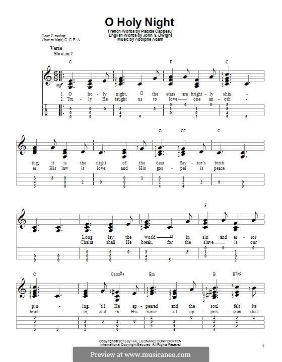 Printable scores: For ukulele by Adolphe Adam