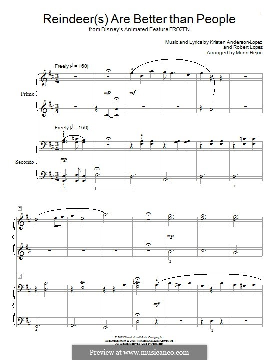 Reindeer(s) Are Better Than People: For piano by Robert Lopez, Kristen Anderson-Lopez