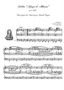 Adagio in G Minor: For organ by Tomaso Albinoni