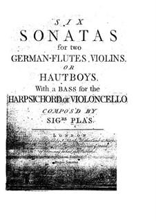 Six Trio Sonatas: Six Trio Sonatas by José Pla